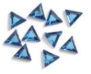 Strass-Steinchen Dreieck blau 72 Stk.