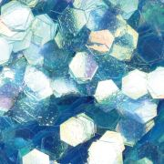 Hexagonal Design royalblau