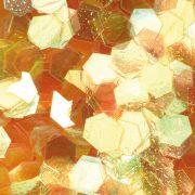 Hexagonal Design gelb